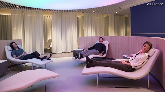 Paris-Charles de Gaulle - neue Air France Lounge